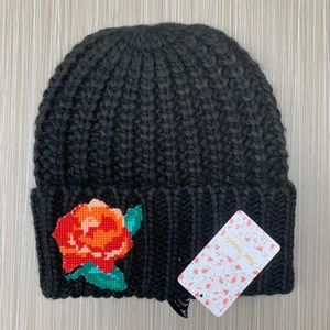 Free People Everything Rosy Cable Knit Beanie